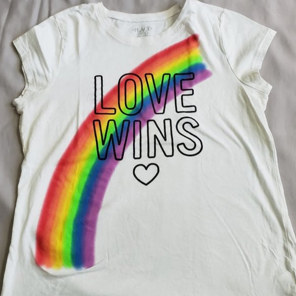 Love Wins with Rainbow T-Shirt
